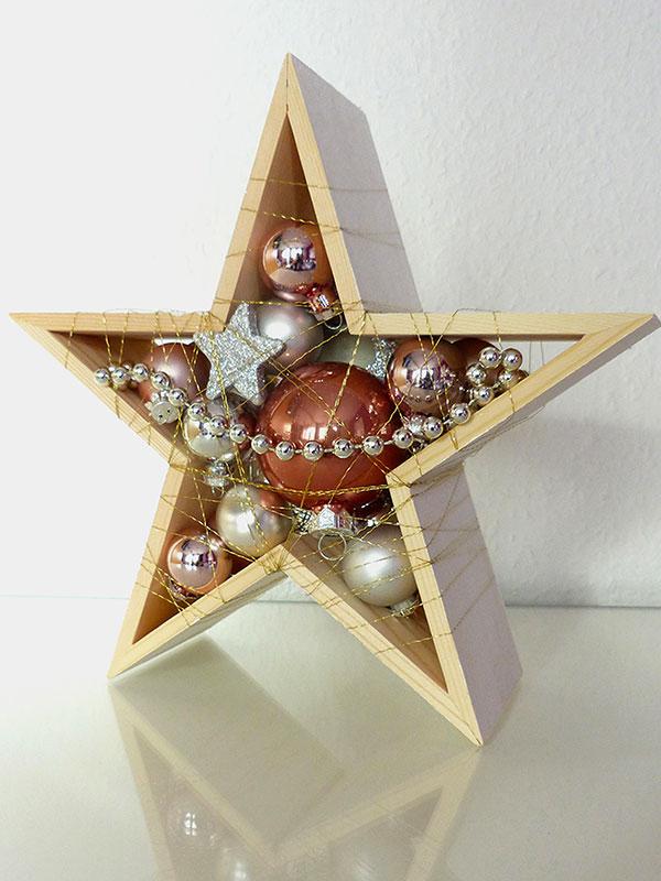 Stern (klein) in Silber/Weiß – Rosé (Rückseite)
