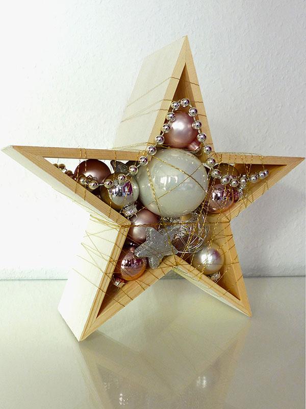 Stern (klein) in Silber/Weiß – Rosé (Front)