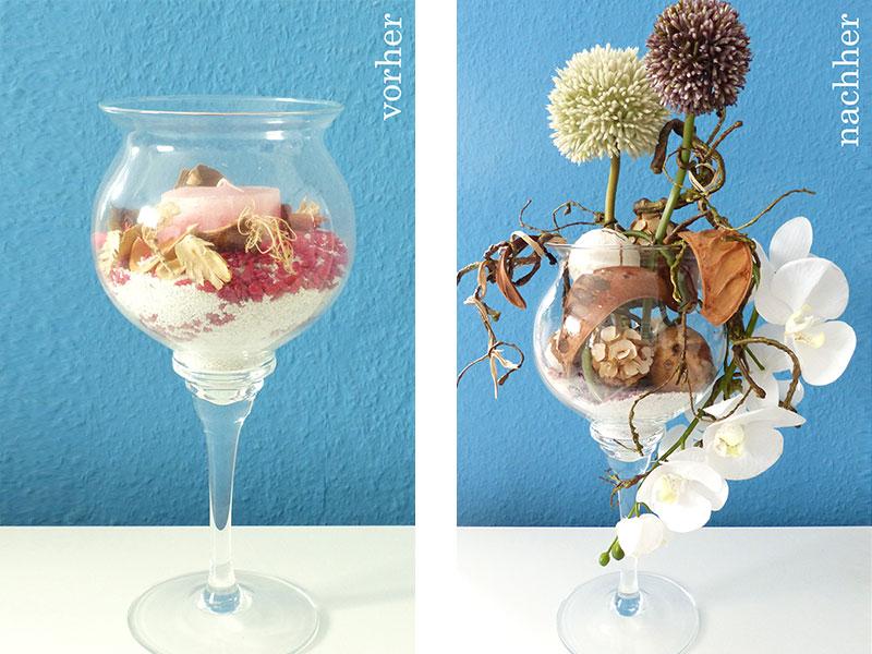 Neugestaltung Glasgefäß