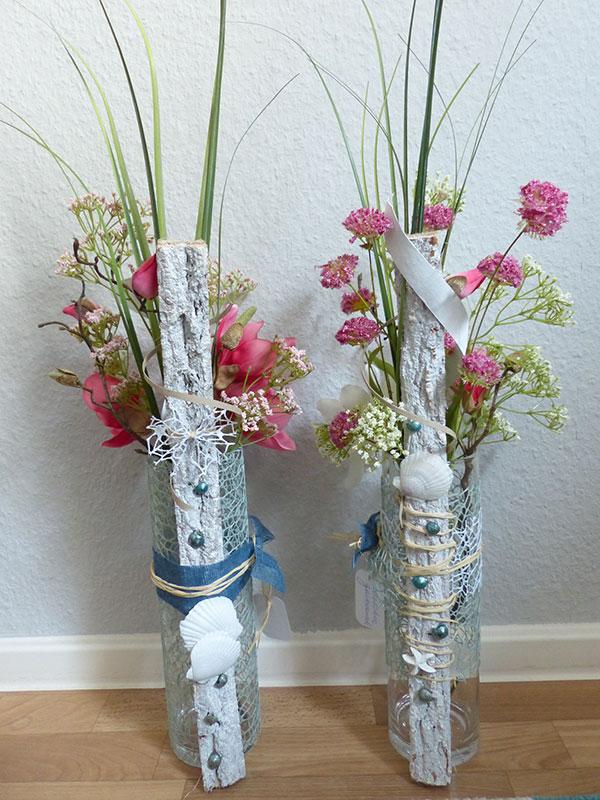 Vasen (Rückseite) mit maritimen Akzenten