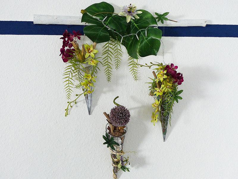 Hängeelemente floral dekoriert