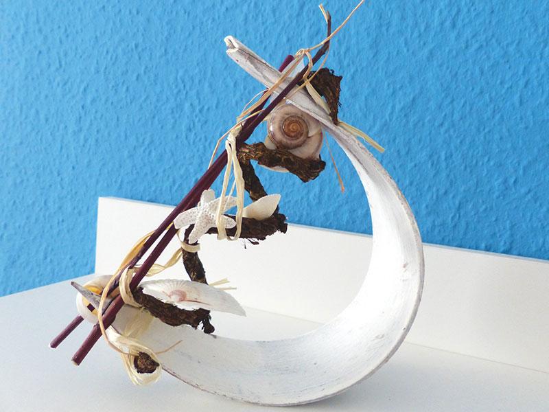 Palmenblatt (klein) maritim dekoriert